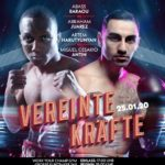 Abass Baraou vs Juarez am 25. Januar in Hamburg (Sport1)