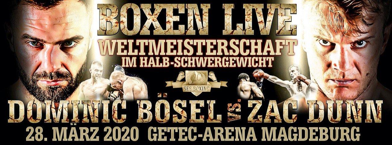 Weltmeister Dominic Bösel wird seine WM-Titel gegen den Australier Zac Dunn zu einem späteren Zeitpunkt in Magdeburg verteidigen!