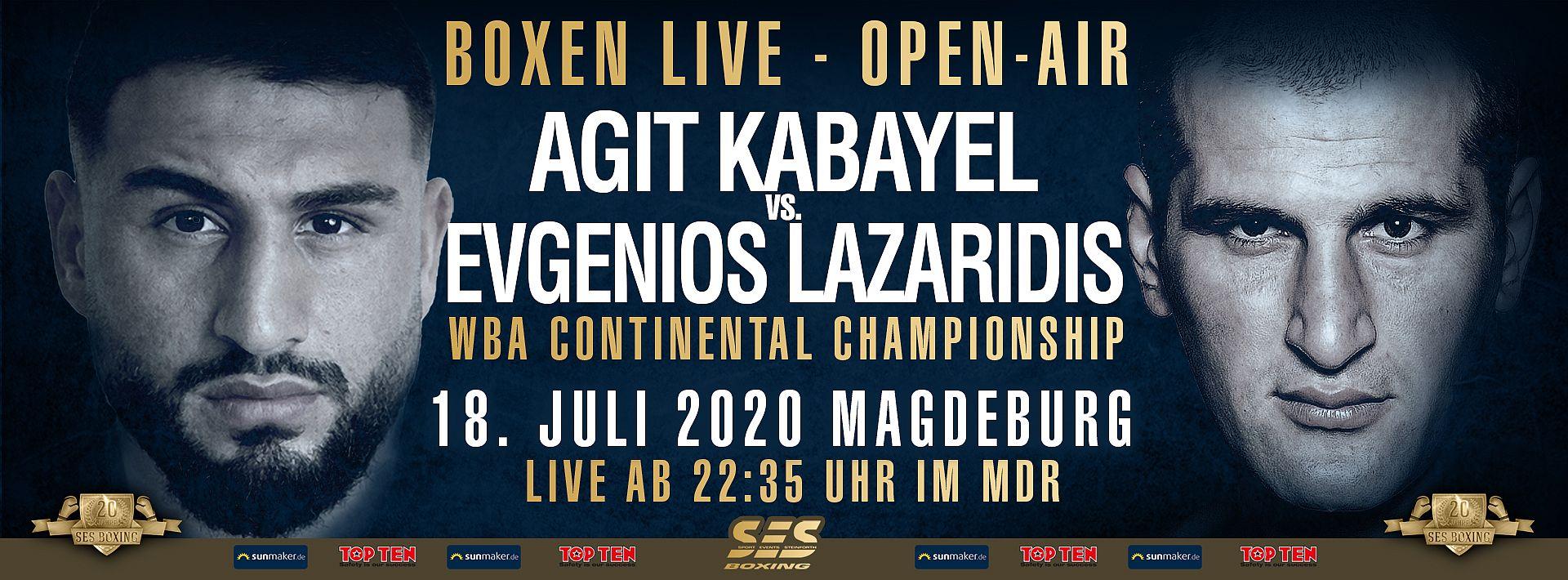 SES-Schwergewichtler Agit Kabayel wird sich im Kampf um den WBA-Continental-Titel gegen den Griechen Evgenios Lazaridis durchsetzen müssen!